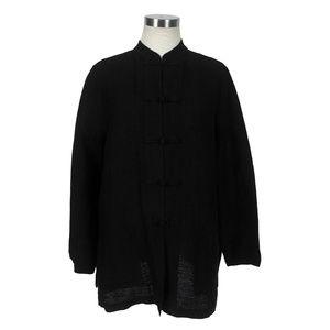 Eileen Fisher Linen Cotton Blouse Jacket Top Frog